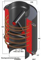 Abgaswärmetauscher bis10kw/Aufsatz f. jeden Ofen f.Anschluß Heizung/Brauchwasser