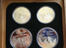 1976 Canada Olympic Series Six Silver Proof Set of Four $5 and $10 E5165