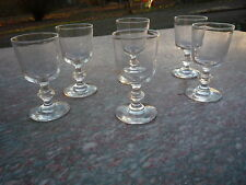 New listing Six crystal glasses to porto old blown mouth xviii century