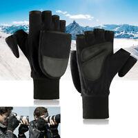 Winter Warm Flip Top Gloves Fingerless Convertible Cycling Photography Men  NTAT