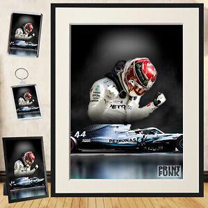 LEWIS HAMILTON POSTER F1 Mercedes Helmet Car Wall Art Print Photo Poster A3 A4