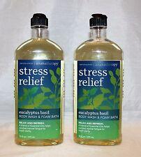 Bath & Body Works Aromatherapy Eucalyptus Basil Body Wash & Foam Bath X 2
