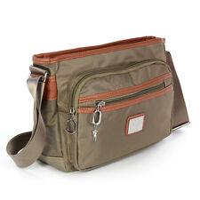 Handtasche braun Nylon Crossbody Schultertasche Damen Umhängetasche OTJ225C