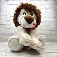 Valentine Plush Lion NWT Soft Mane Heart Ribbon Kiss Lips Love Gift