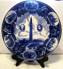 Wedgwood Bennington Battle Monument in Vermont Flow Blue Collector's Plate