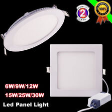 Dimmable Recessed LED Panel Light Ceiling Down Lamp Cool White 6/15/30W 110/220V
