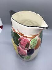 "Hand painted blue ridge china pitcher southern potteries inc 6.5"" tall"