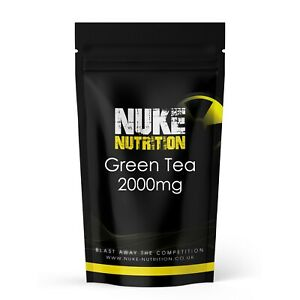 2000mg GREEN TEA TABLETS EXTRACT EGCG - STRONG HERBAL FAT BURNER - DIET SLIMMING