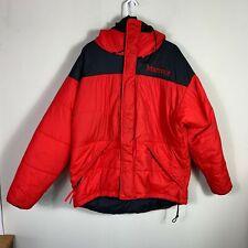 Marmot Parka Pertex Primaloft Puffer Mammoth Jacket Red Size M