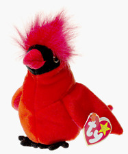 TY BEANIE BABY MAC THE CARDINAL DOLL COLLECTIBLE WITH TAG FREE SHIP TO THE USA