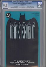 Legends of the Dark Knight 1 CGC 9.8 1990 DC Batman  Blue Cover Comic: