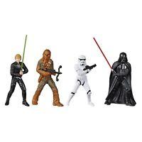 """Star Wars Disney 3.75"""" Action Figures Complete Set of 4  Vader Skywalker NEW!"""