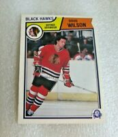 1983-84 O-Pee-Chee Doug Wilson #114 Chicago Blackhawks Hall Of Fame Star D OPC