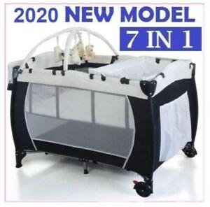*NEW*  BABY PORTABLE TRAVEL COT BASSINET FOLDABLE PLAYPEN PORTACOT
