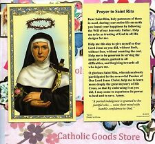 St Rita with Prayer to Saint Rita on back - Paperstock Holy Card