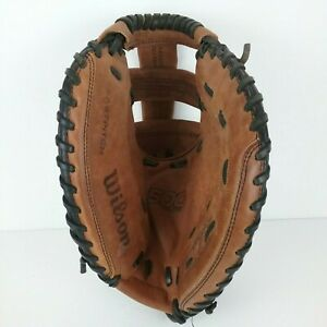 """Wilson A500 31"""" Fastpitch Base Brown Glove Mit A0500  Ecco Leather Baseball Left"""