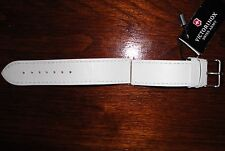NEW Victorinox Swiss Leather Watch Band 003442 Calfskin Strap White Buckle 20mm