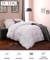 Duck Feather & Down Duvet / Quilt Bedding - 4 Sizes 15 TOG Supreme Quality