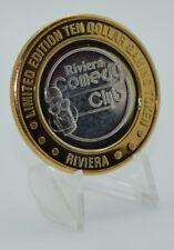 Silver Strike .999 Fine Silver Riviera Casino $10 Las Vegas NV Comedy Club 1996