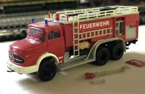 Modellauto Preiser H0 Feuerwehr Mercedes Rundhauber