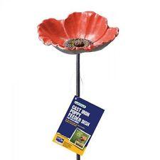 Cast Iron Poppy Bird Feeder Water Dish Garden Gift Charity Donation