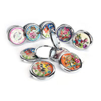 Crystal Folding Round Pocket Compact Makeup Cosmetic Mirror Portable Useful HC