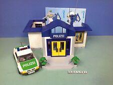 (O3159.1) playmobil caserne polizei + voiture ref 3159 3903