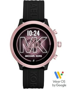 Michael Kors Gen 4 MKGO Touchscreen Pink Dial Black Band HR SmartWatch MKT5111