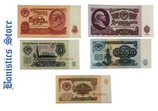 1 3 5 10 25 ROUBLES 1961 USSR RUSSIAN BANKNOTES UNC MONEY GROUP No-37!