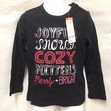 Gymboree T-Shirt Long Sleeve Xmas Cozy Sparkle Joyful Snowy Mittens Merry Bright