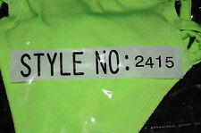 Elegant Moments EM2415 Triple Strap G-string Lime