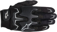 ALPINESTARS Fighter Mesh Touch Screen Motorcycle Gloves (Black) Choose Size