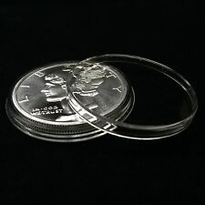 50 Airtite Holders Coin Capsules for 1 oz Silver Rounds, Direct Fit 39mm