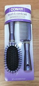 Genuine Conair (95120Z) Mid Sized Brush & Comb Set For Detangle And Styling READ