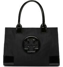 Tory Burch Ella Mini Tote 50009813 Nylon Leather Handbag Black