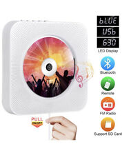 Wall Mounted Portable CD Player HiFi Speakers FM Radio Remote MP3 With Bluetooth