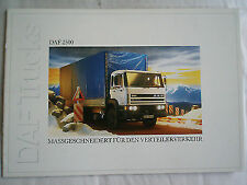 Daf 2500 Truck brochure c1990 German text