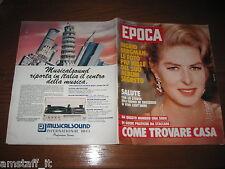 RIVISTA EPOCA 1982 N.1666=INGRID BERGMAN=CARLA FRACCI=PATRICK TAMBAY FERRARI=