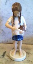 Little Mother Vintage BingGrondahl B&G Porcelain Cat Figurine Girl w/Kitten 1779