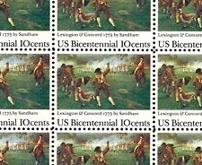 1975 - LEXINGTON-CONCORD #1563 - Full Mint -MNH- Sheet of 50 Postage Stamps