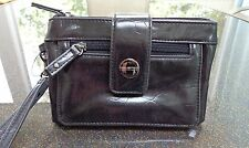 Kenneth Cole Unlisted Get the Skinny Black Muted Croc Clutch/Wristlet Ret. $60.