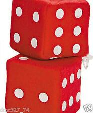 1950s Sock Hop Grease Party Decoration Car Prop PLUSH HANGING DICE ~ RED