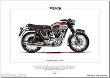 TRIUMPH BONNEVILLE T120 - Motorcycle Fine Art Print - Classic British Made 650cc
