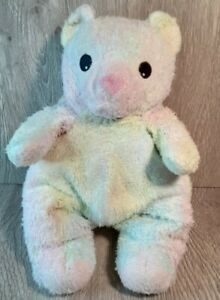 Ty Baby Pillow Pal Bearbaby Plush Pastel Rattle-1999 Ty-Dye Tylon