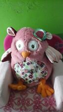 "OWL flower lovey baby plush 10"" pink orange Nat and Jules Demdaco Floralicious"