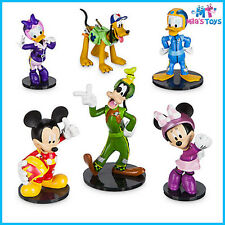 Disney Mickey and the Roadster Racers 6 piece Figure Figurine Play Set brand new