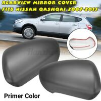 2X Rearview Mirror Cover Cap Left&Right For Nissan Qashqai 2007-2013