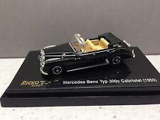 HO 1/87 Ricko # 38827 Mercedes Benz Typ 300c Cabriolet (1955) - Black