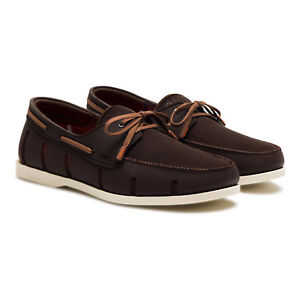 Swims Boat Loafer Brown/Cream Driving Moccasin Loafer Men's sizes 7,8 and 12 NEW