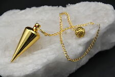 Pendel aus Messing  RADIÄSTHESIE 3,5 cm goldfarben